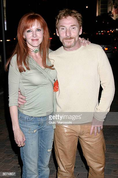 Actor Danny Bonaduce and wife Gretchen attends the Hollywood Car Club Launch March 10 2004 at the Chin Restaurant in West Hollywood California