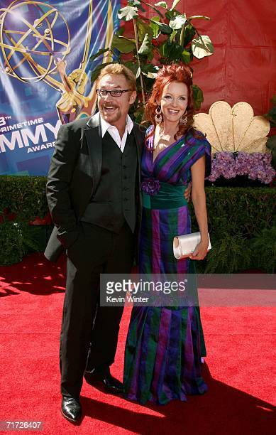 Actor Danny Bonaduce and wife Gretchen Bonaduce arrive at the 58th Annual Primetime Emmy Awards at the Shrine Auditorium on August 27 2006 in Los...