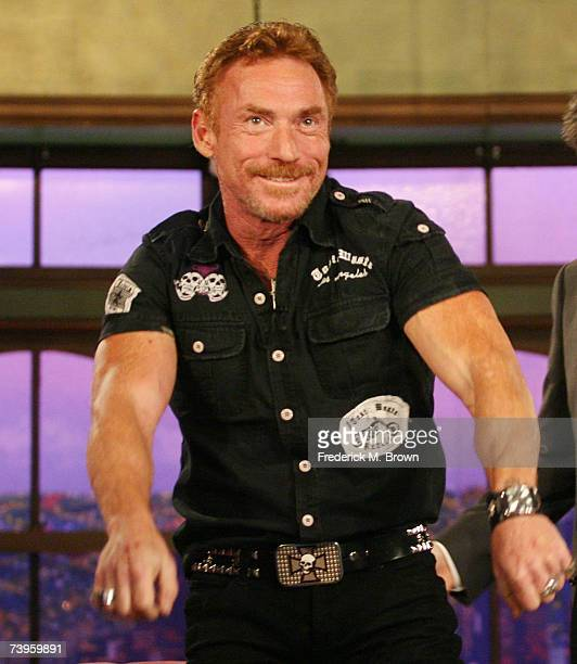 Actor Danny Bonaduce gestures during a segment of The Late Late Show with Craig Ferguson at CBS Television City on April 23 2007 in Los Angeles...