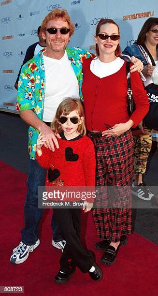 Actor Danny Bonaduce his wife Gretchen and daughter Isabella are arrive at the Super Saturday LA designer garage sale to benefit the Ovarian Cancer...