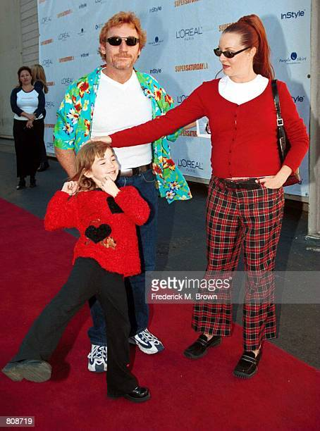 Actor Danny Bonaduce his wife Gretchen and daughter Isabella arrive for the Super Saturday LA designer garage sale for the Ovarian Cancer Research...