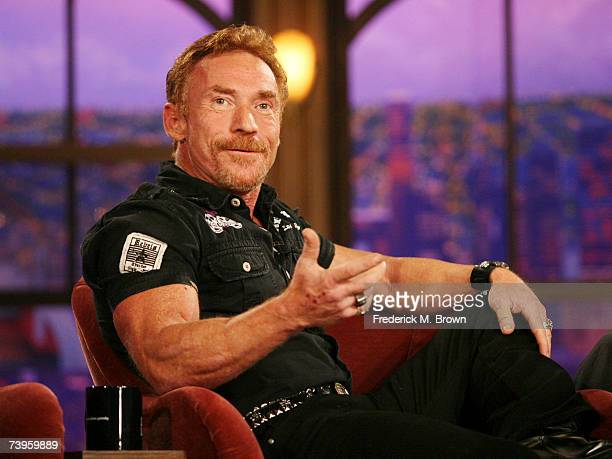 Actor Danny Bonaduce speaks during a segment of The Late Late Show with Craig Ferguson at CBS Television City on April 23 2007 in Los Angeles...