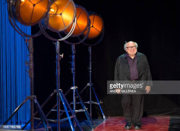 US actor Danny de Vito arrives to receive the Donostia award at the 66th San Sebastian Film Festival in the northern Spanish Basque city of San...