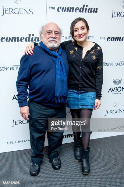 Actor Danny DeVito and actress Lucy DeVito attend a Screening Of Sony Pictures Classics' The Comedian at Museum of Modern Art on January 31 2017 in...