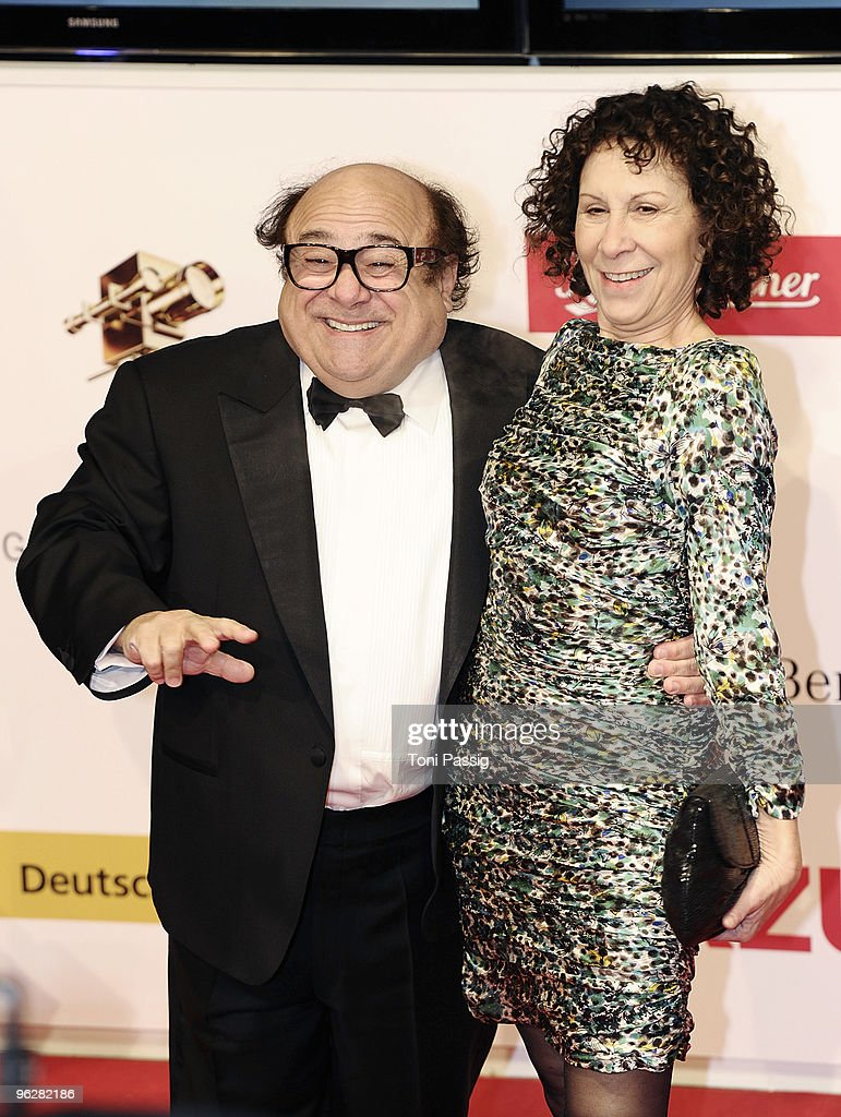 US actor Danny DeVito (L) and his wife US actress Rhea Perlman attend the Goldene Kamera 2010 Award at the Axel Springer Verlag on January 30, 2010 in Berlin, Germany.