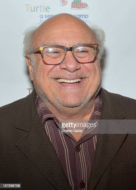 Actor Danny DeVito arrives at a celebration of Carole King and her music to benefit Paul Newman's The Painted Turtle Camp at the Dolby Theatre on...