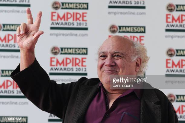 Actor Danny Devito arrives the at Jameson Empire Film Awards held at the Grosvenor House Hotel, Park Lane, in London on March 25, 2012. AFP PHOTO /...