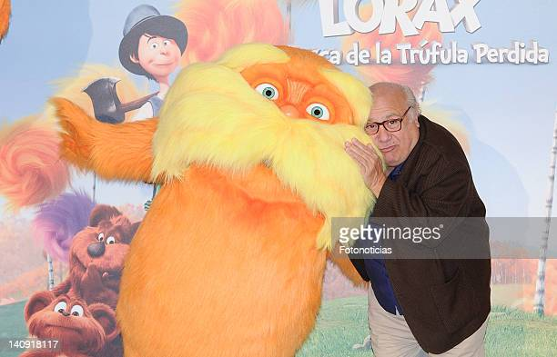 Actor Danny DeVito attends a photocall for 'Dr Seuss The Lorax' at Villa Magna Hotel on March 8 2012 in Madrid Spain