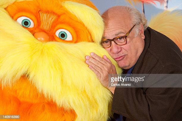 Actor Danny DeVito attends Dr Seuss The Lorax photocall at Villamagna Hotel on March 8 2012 in Madrid Spain