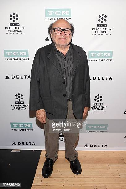 Actor Danny DeVito attends 'One Flew Over the Cuckoo's Nest' screening during day 3 of the TCM Classic Film Festival 2016 on April 30, 2016 in Los...