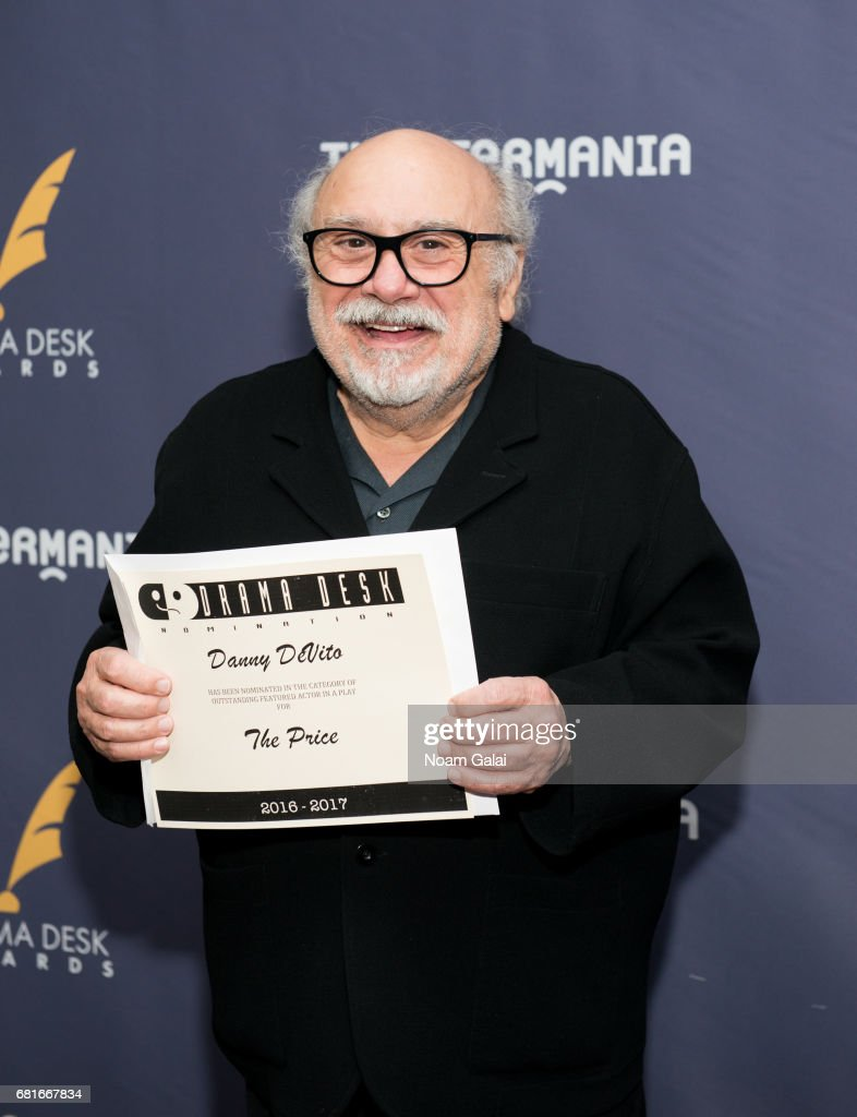 Actor Danny DeVito attends the 2017 Drama Desk Nominees Reception at Marriott Marquis Times Square on May 10, 2017 in New York City.