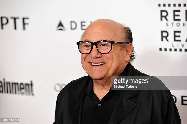 Actor Danny DeVito attends the 5th Annual Reel Stories Real Lives Benefiting MPTF at Milk Studios on April 7 2016 in Los Angeles California