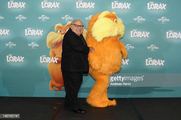 Actor Danny DeVito attends the Dr Seuss' The Lorax Germany Photocall at Ritz Carlton on March 5 2012 in Berlin Germany