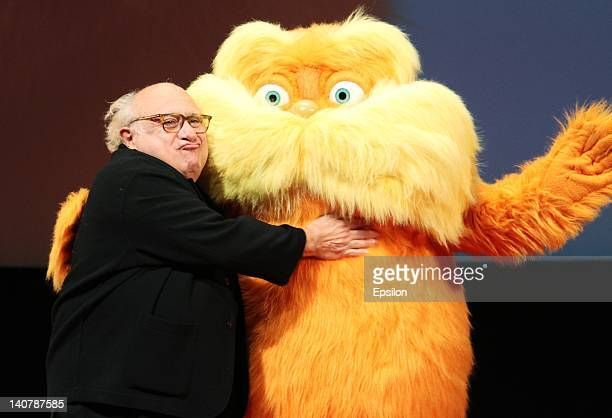 Actor Danny DeVito attends the Dr Seuss The Lorax photocall at at Oktyabr cinema hall on March 6 2012 in Moscow Russia