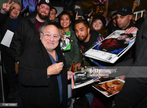 Actor Danny DeVito attends the 'Dumbo' Canadian Premiere held at Scotiabank Theatre on March 18 2019 in Toronto Canada