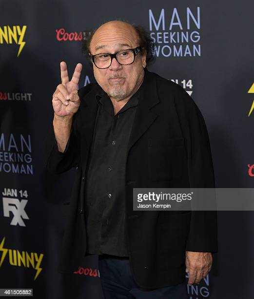 "Actor Danny Devito attends the premiere of FXX's ""Its Always Sunny in Philadelphia"" at the DGA Theater on January 13, 2015 in Los Angeles, California."