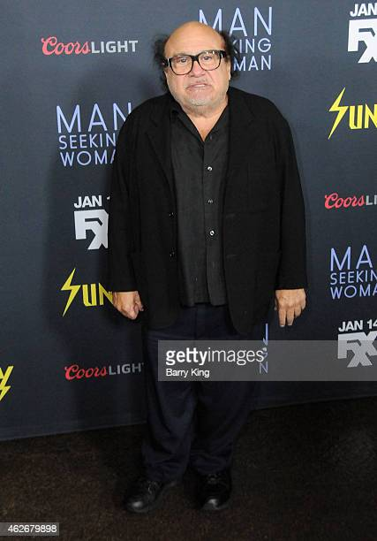 Actor Danny DeVito attends the premiere of FXX's 'It's Always Sunny In Philadelphia' and 'Man Seeking Woman' at The DGA Theater on January 13 2015 in...