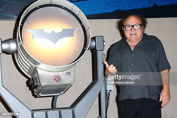 Actor Danny DeVito attends the Warner Bros. VIP Studio Tour unveiling of the Batman Exhibit celebrating Batman's 75th Anniversary at Warner Bros....