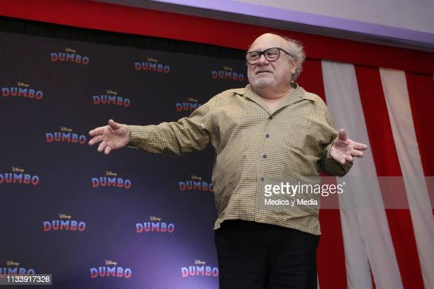 Actor Danny DeVito greets the media during Disney's 'Dumbo' film press conference at Four Seasons Hotel Mexico City on March 5 2019 in Mexico City...