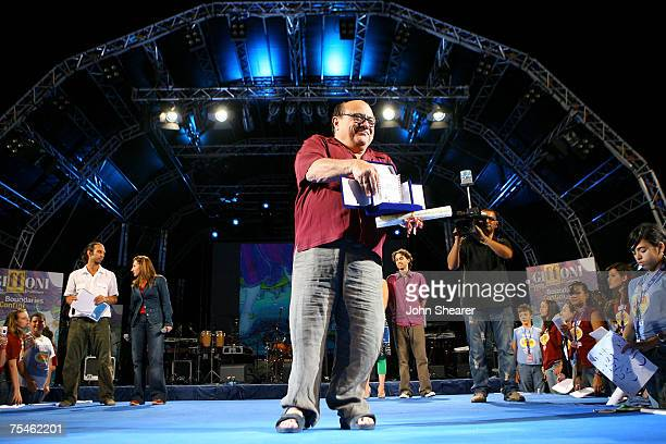 Actor Danny DeVito is honored at the Alberto Forbi Arena during the Giffoni Film Festival on July 17, 2007 in Giffoni, Italy.