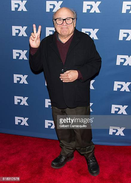 Actor Danny DeVito of It's Always Sunny in Philadelphia attends FX Networks Upfront screening of 'The People v OJ Simpson American Crime Story' at...