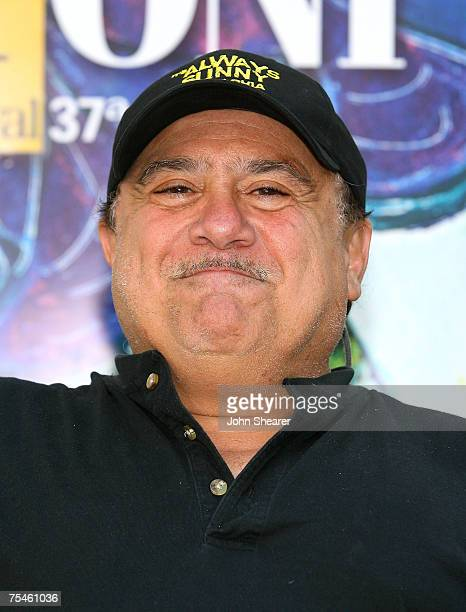 Actor Danny DeVito poses at a photo call at Cinema Truffaut during the Giffoni Film Festival on July 17, 2007 in Giffoni, Italy.