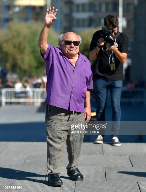 US actor Danny DeVito poses during a photocall few hours before receiving the Donostia Award in recognition of his prestigious film career during the...