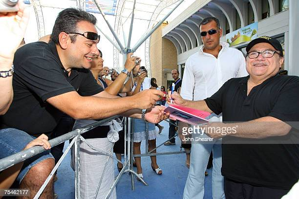 Actor Danny DeVito signs autographs after a juror Q & A at Cinema Truffaut during the Giffoni Film Festival on July 17, 2007 in Giffoni, Italy.