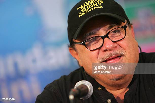 Actor Danny DeVito speaks at a press conference at Cinema Truffaut during the Giffoni Film Festival on July 17, 2007 in Giffoni, Italy.