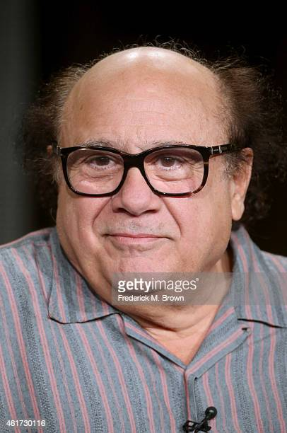 Actor Danny DeVito speaks onstage during the 'It's Always Sunny in Philadelphia' panel discussion at the FX Networks portion of the Television...