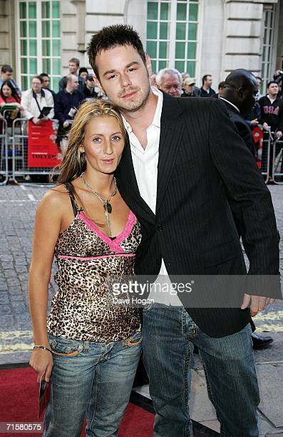 Actor Danny Dyer and his guest Jo arrive at the UK premiere of Volver at Curzon Mayfair on August 3 2006 in London England