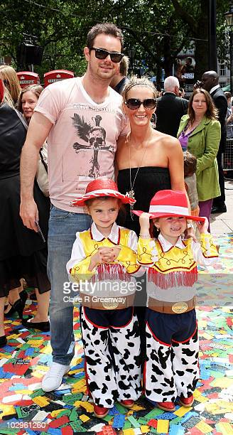 Actor Danny Dyer his partner Joanne Mas their daughter Sunny and Joanne's goddaughter Olivia arrive at the UK premiere of 'Toy Story 3' at Odeon...