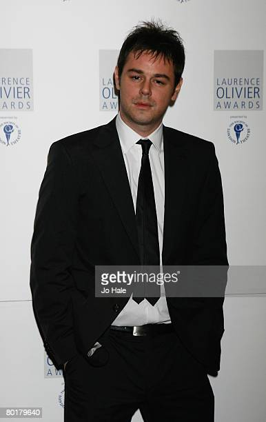 Actor Danny Dyer poses in the awards room at the Laurence Olivier Awards at Grosvenor House on March 9 2008 in London England