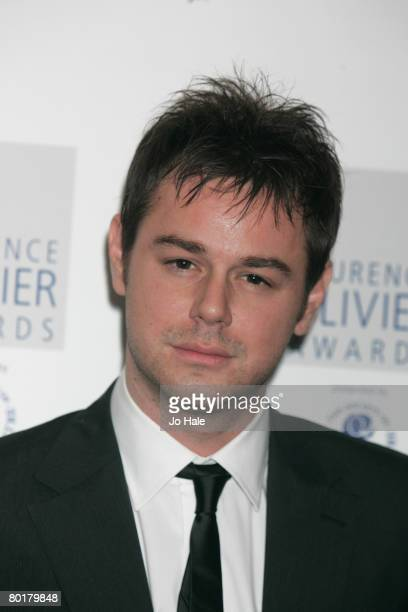 Actor Danny Dyer poses in the awards room at the Laurence Olivier Awards at Grosvenor House on March 9 2008 in London