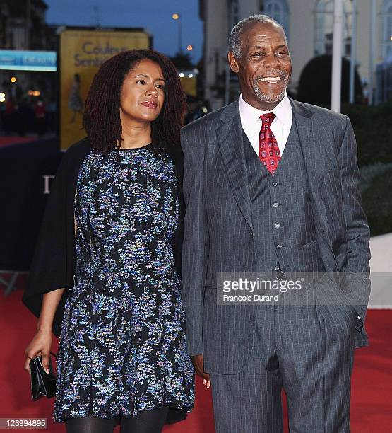 Actor Danny Glover and Asake Bomani arrive for 'The Conspirator' premiere during the 37th Deauville American Film Festival on September 7 2011 in...