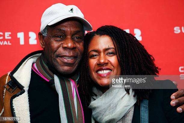 Actor Danny Glover and Asake Bomani attend The House I Live In Premiere at the Temple Theatre during the 2012 Sundance Film Festival on January 21...
