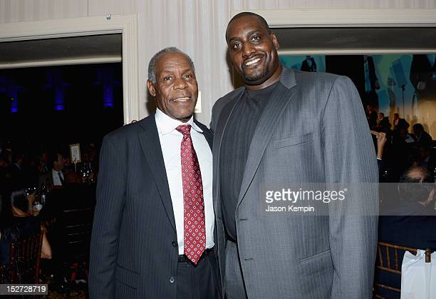 Actor Danny Glover and former NBA basketball player Anthony Mason attend the 27th Annual Great Sports Legends Dinner to benefit the Buoniconti Fund...