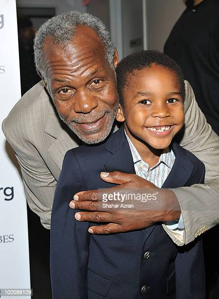 Actor Danny Glover and his grandson Adesola Glover attend the 2010 Apollo Theater Spring Benefit Concert Awards Ceremony at The Apollo Theater on...