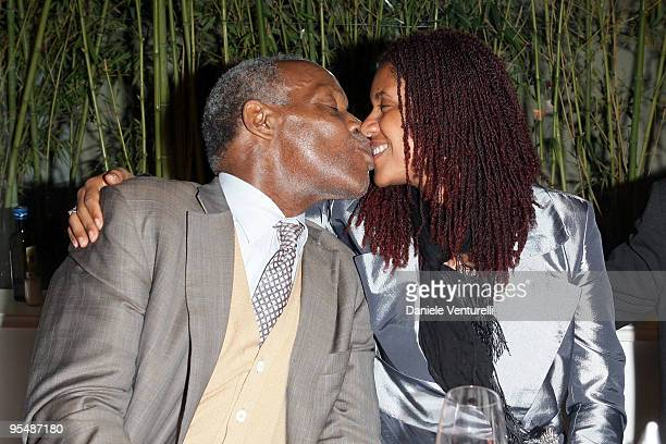 Actor Danny Glover and his guest attend the third day of the 14th Annual Capri Hollywood International Film Festival on December 29 2009 in Capri...