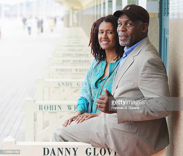 US actor Danny Glover and his wife Asake Bomani attend an homage ceremony at Promenade des planches during the 37th Deauville American Film Festival...