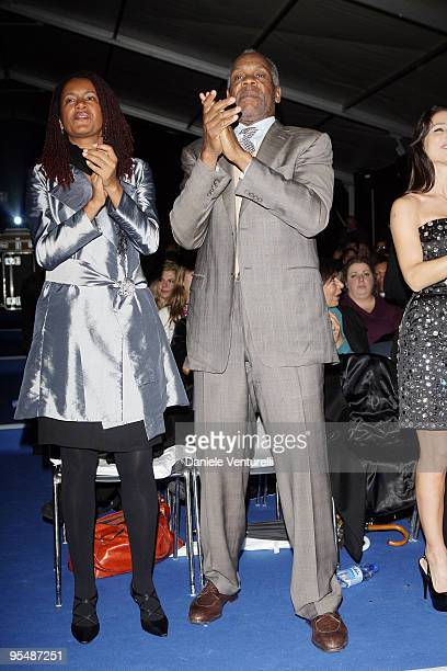 Actor Danny Glover and his wife attend the third day of the 14th Annual Capri Hollywood International Film Festival on December 29 2009 in Capri Italy