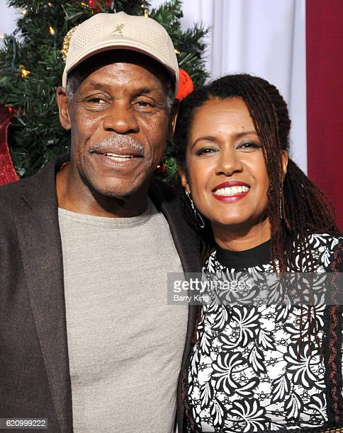 Actor Danny Glover and wife Elaine Cavalleiro attend the premiere of Universal's 'Almost Christmas' at Regency Village Theatre on November 3 2016 in...