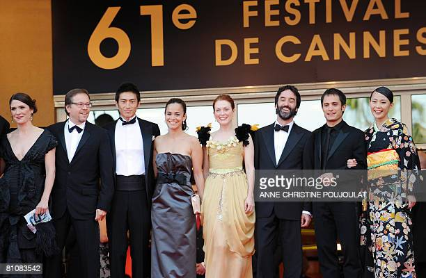 US actor Danny Glover Brazilian director Fernando Meirelles and his wife Japanese actor Yusuke Iseya Brazilian actress Alice Braga US actress...
