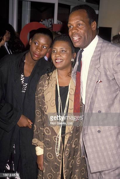Actor Danny Glover wife Asake Bonami and daughter Mandisa Glover attending the premiere of 'Listen UpLives of Quincy Jones' on September 23 1990 at...