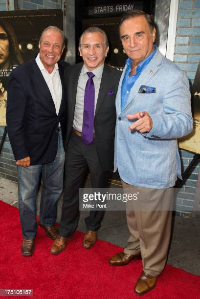 Actor Danny Grimaldi Former WBA Lightweight Boxing Champion Ray Boom Boom Mancini and Actor Tony LoBianco attend The Good Son screening at Cinema...