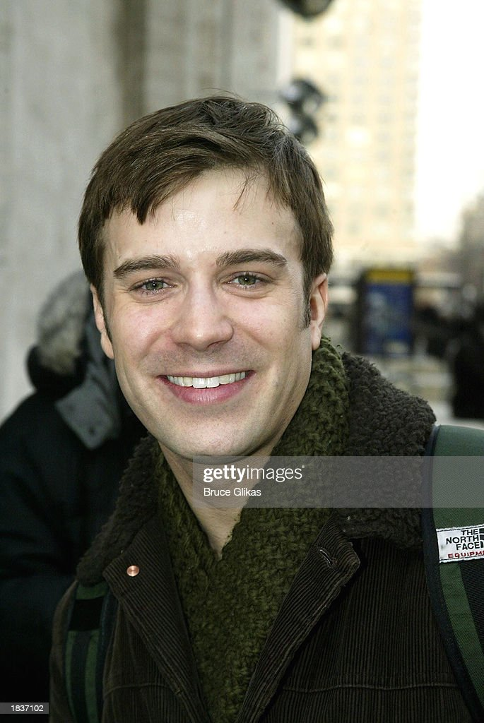 Actor Danny Gurwin, who plays 'Henrik Egerman' in the New York City Opera's production of Stephen Sondheim's 'A Little Night Music', poses after the opening weekend at The New York State Theater at the Lincoln Center on March 8, 2003 in New York City.