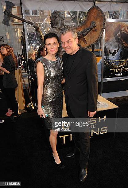 """Actor Danny Huston and Actress Lyne Renee arrive to the premiere """"Clash Of The Titans"""" held at Grauman's Chinese Theatre on March 31, 2010 in Los..."""