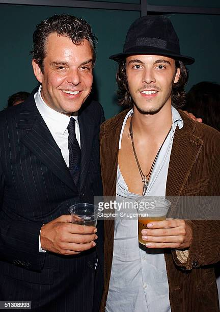 Actor Danny Huston and his nephew Jack Huston attend the after party for the Los Angeles Premiere of 'Silver City' at the Arclight Cinerama Dome on...