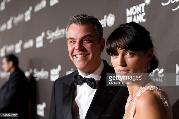 Actor Danny Huston and Lyne Renee arrive at Montblanc Signature for Good Charity Gala at Paramount Studios on February 20 2009 in Los Angeles...
