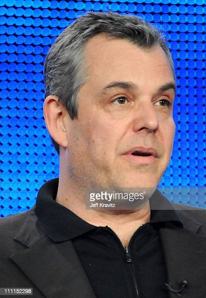 """Actor Danny Huston of """"You Don't Know Jack"""" speaks during the HBO portion of the 2010 Television Critics Association Press Tour at the Langham Hotel..."""